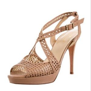 Kate Spade Beige Perforated Platforms
